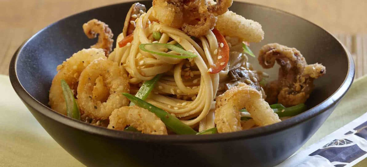 Lightly Breaded Ring and Tentacle Calamari
